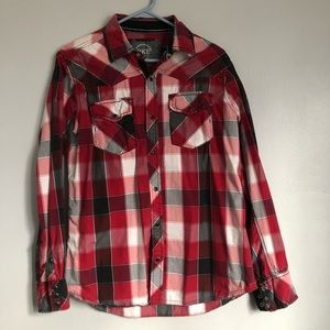 BKE Men's Plaid Button Down Shirt
